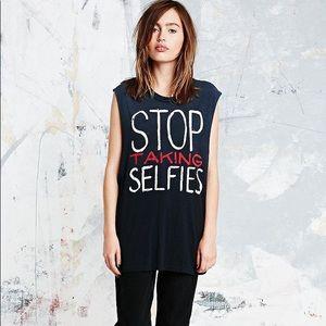 Stop taking selfies unif tank